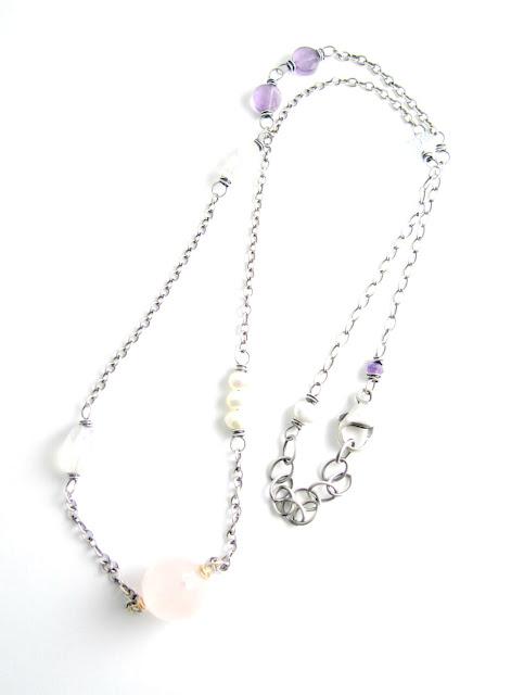 breast cancer heart chakra necklace jewelry rose quartz