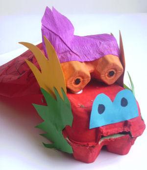 Поделки из картона драконы
