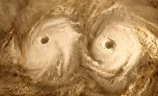Venus's South Pole Vortex = Whirlwind Size of Europe