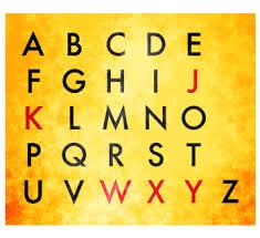 blog di Sasà o' professore: Lo sciopero delle lettere dell'alfabeto