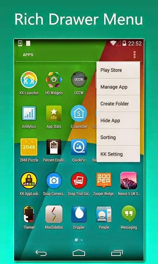 KK Launcher Prime (KitKat, Android L launcher) v4.95