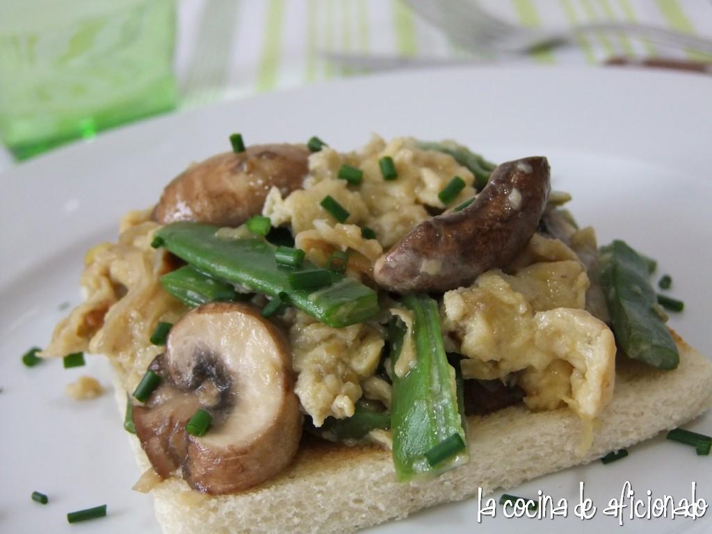 La cocina de aficionado revuelto de puerro jud as verdes - Tiempo coccion judias verdes ...