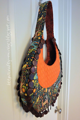 Fringed Hobo Bag, side view
