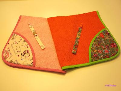 Tovallola capa personalitzada feta a mà Enfilades
