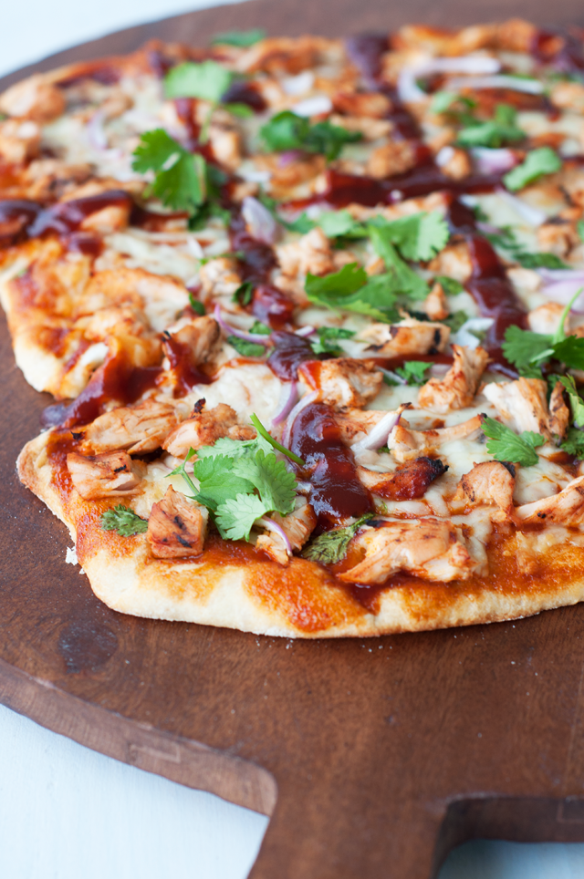 BBQ Chicken Pizza - Living in Yellow