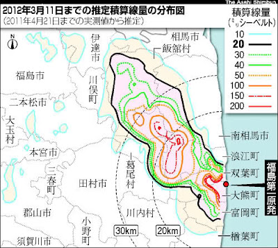 Fukushima Dose Over 1 Year from Government Sources