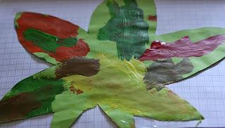 activités manuelles peinture feuille automne