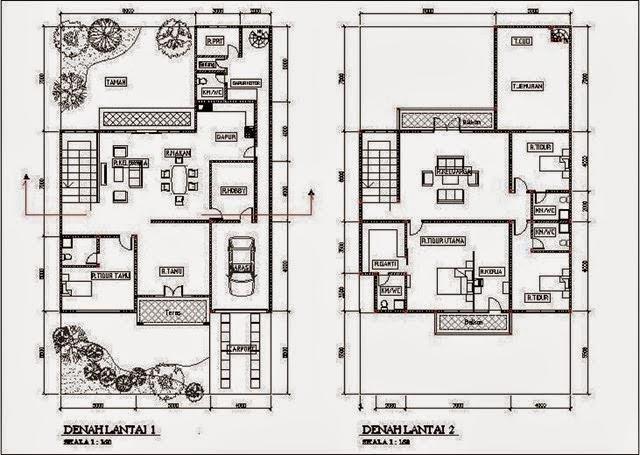 Desain Rumah Minimalis 2 Lantai 5 Kamar