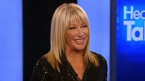 Suzanne Somers was on head talk to promote one of her many books