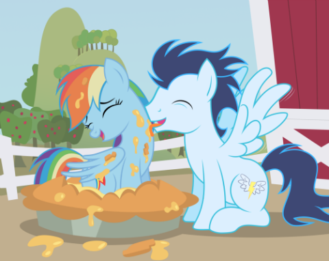 Dashie what are you doing in Soarin's special pie