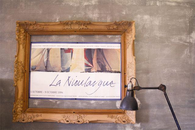 Ancienne affiche Nioulargue St Tropez 1994