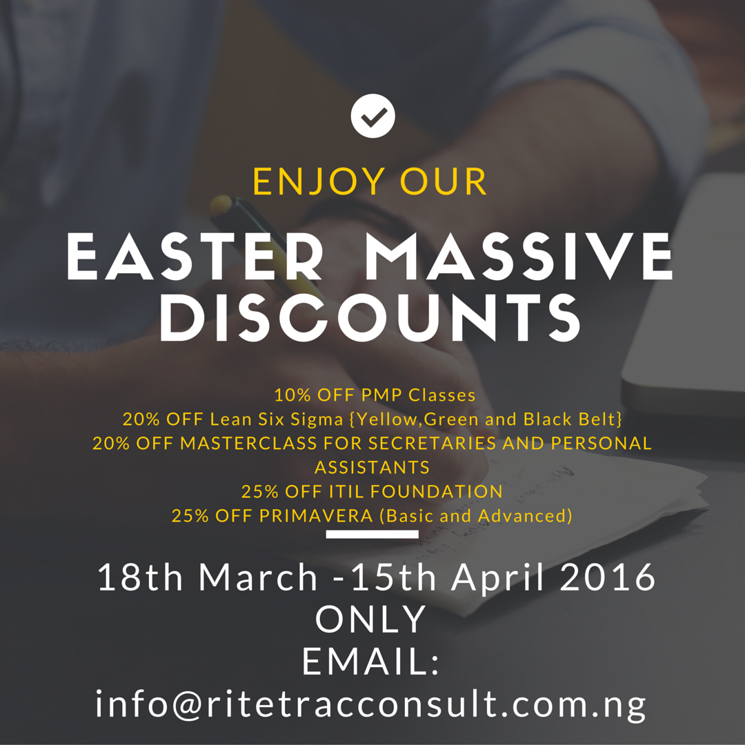 Easter Massive Discounts on Training Classes