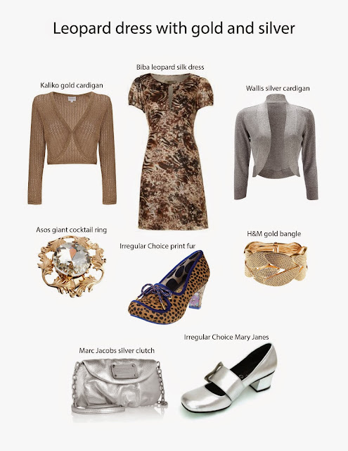 Kaffesoester's Biba dress with leopard print and accessory ideas