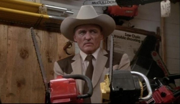 Dennis Hopper in Texas Chainsaw Massacre 2