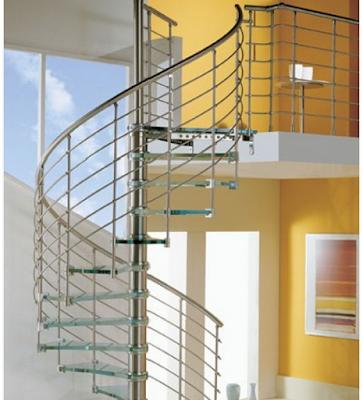 tangga spiral unik rumah minimalis