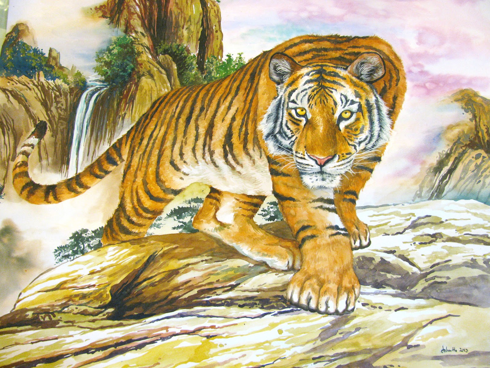 Art Whiz Kids The water color Tiger Painting