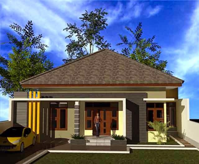 Gambar Rumah Klasik Minimalis 1 Lantai Desain Sederhana Murah