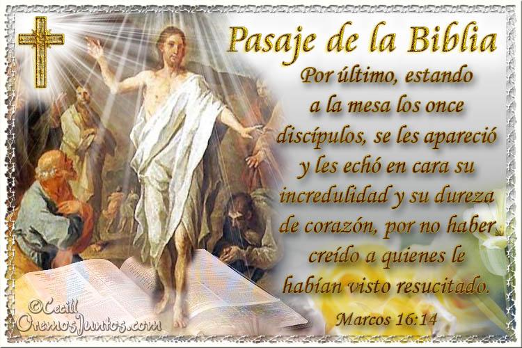 Vidas Santas: Santo Evangelio según san Marcos 16:14