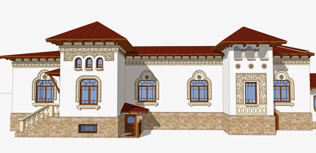 Arhitect casa neoromaneasca, fatade case cu profile decorative