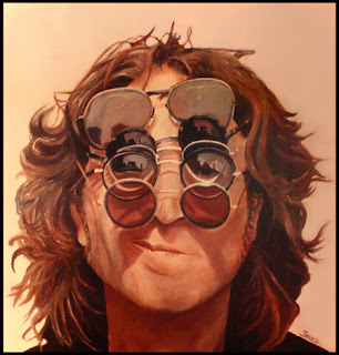 John Lennon painting artwork