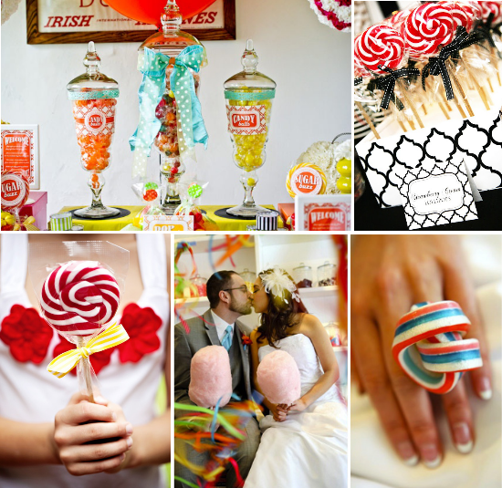 candy Wedding, lollipop, cotton- candy, zucchero filato, candy table