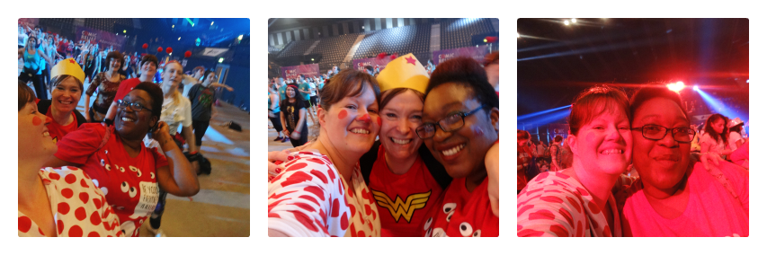 NewMumOnline and Tinuke and Nell at Danceathon 2015 Comic Relief
