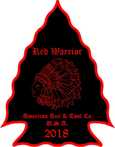 "Red Warrior Label 4"" Decal"