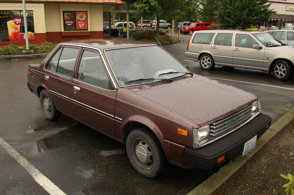 OLD PARKED CARS 1982 DatsunNissan Sentra Sedan
