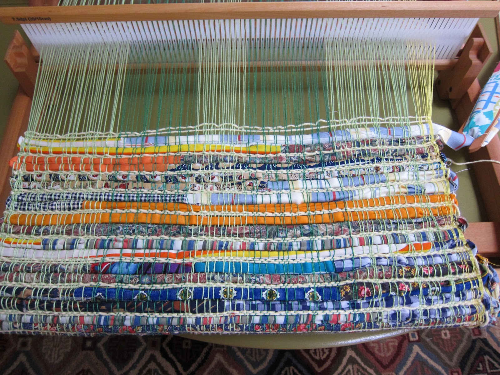 Weaving A Rag Rug On The Rigid Heddle Loom