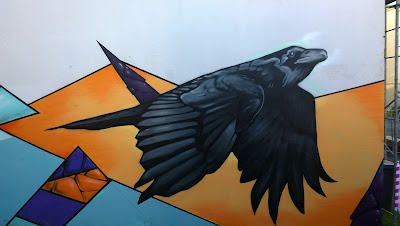 Reykjavik Mural Raven