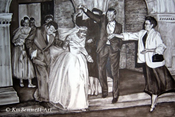 Painting: Wedding Party 01 progress 4