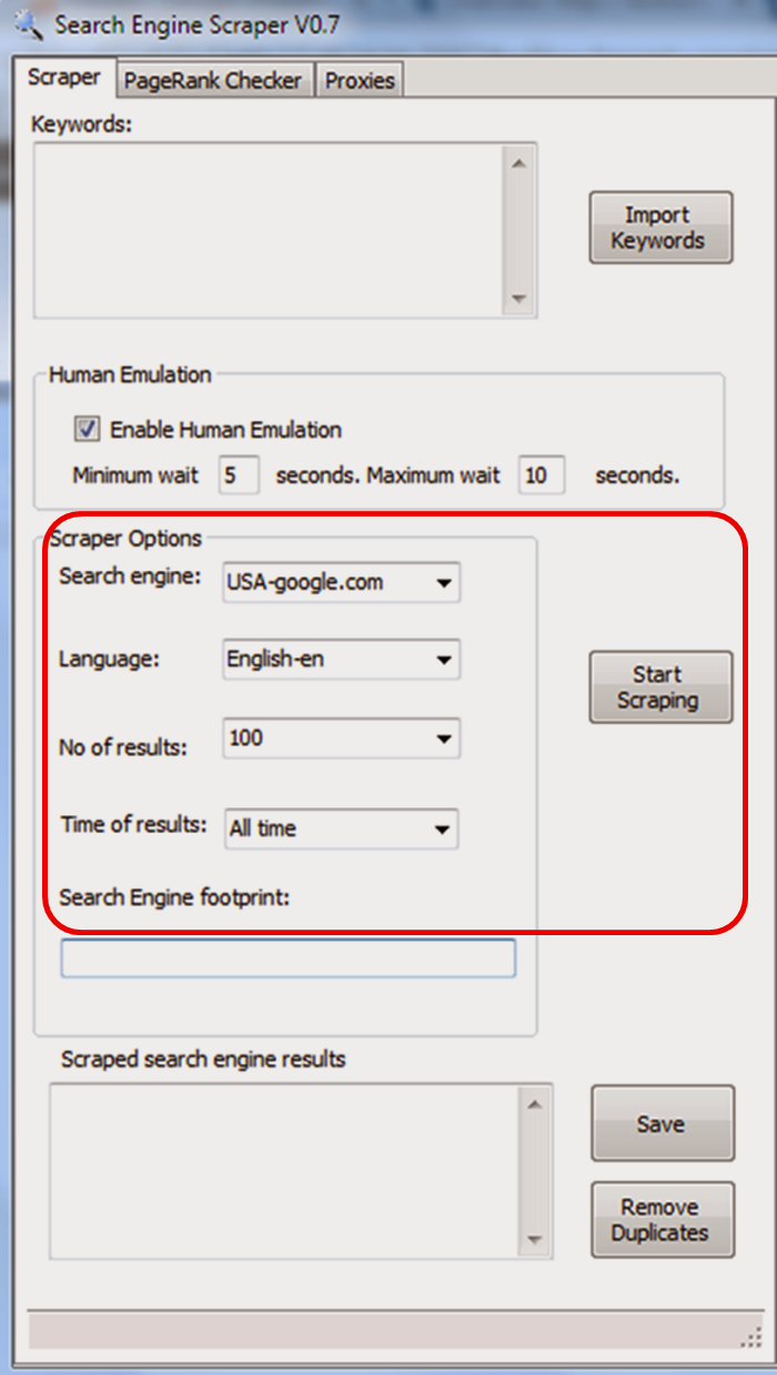 Google Search Engine Scraper