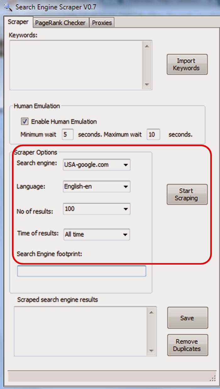 Google Search Engine Scraper