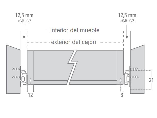 Tutorial melamina y mueble correderas metalicas simples for Como se dan las medidas de un mueble