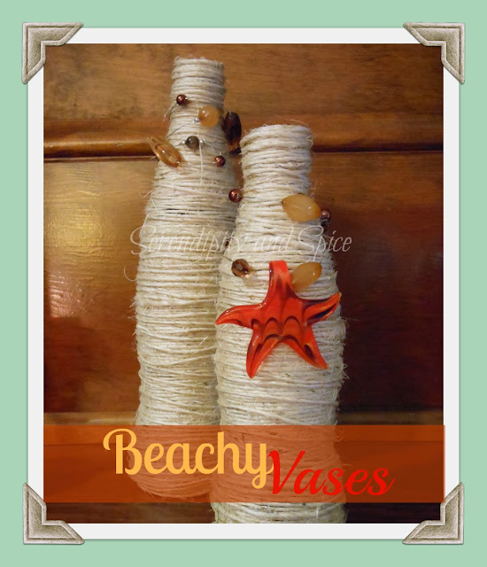 Twine Covered Beachy Vases by @serendipitynsp