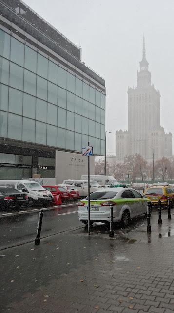 Atak zimy na Warszawę w październiku