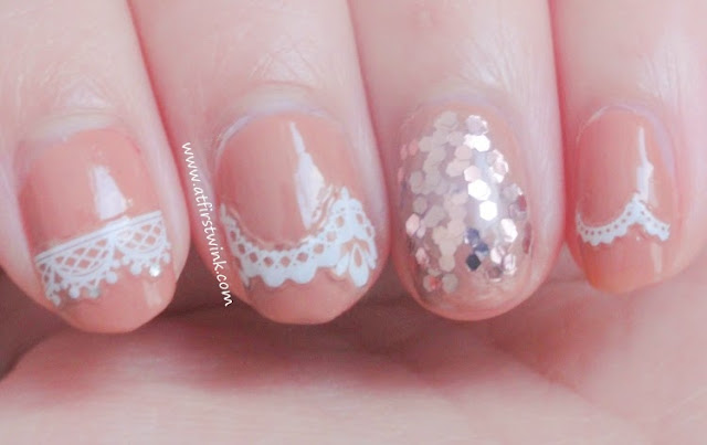 lasting power of the Etude House lace nail stickers