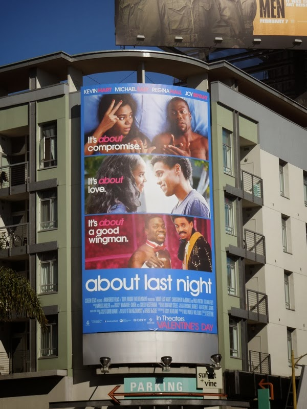 About Last Night movie billboard