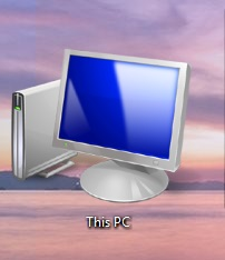 "How to Show ""This PC"" Icon on Desktop in Windows 8."