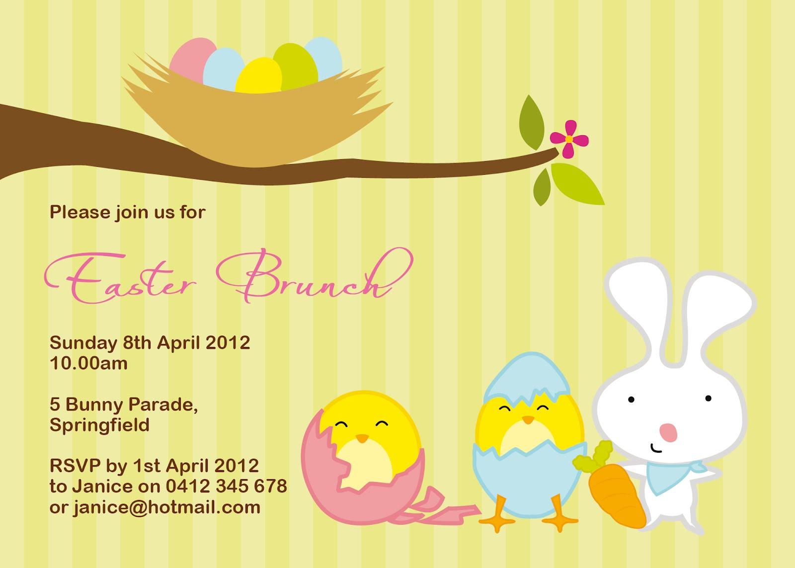 Water Lilli Designs Easter Invitations