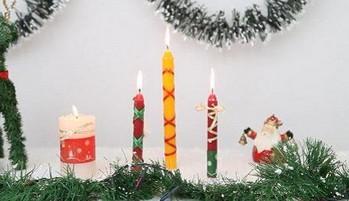 Como decorar velas para navidad portal de manualidades - Velas decoradas para navidad ...