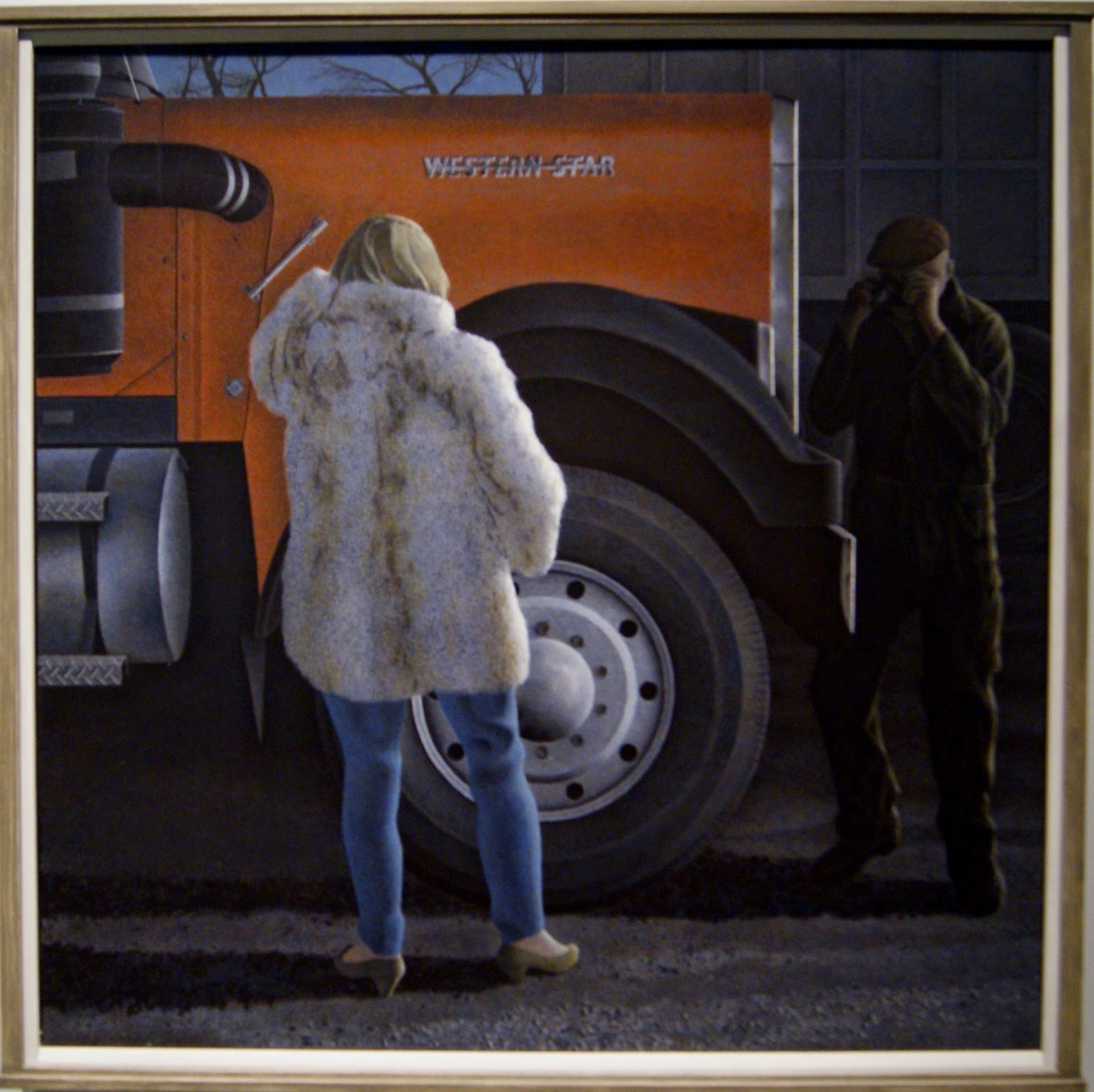 Alex Colville Exhibit at Art Gallery of Ontario in Toronto, Western Star, 1985, paintings, art, artmatters, culture,ontario, Canadian Artist, Painter, Canada