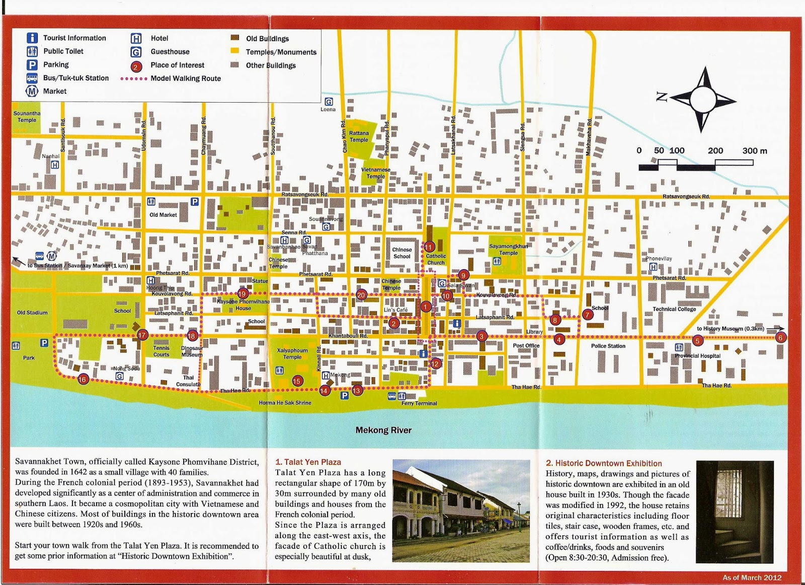 Tourist Map of Savannakhet Laos – Tourist Map Laos