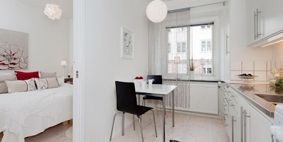 cocina apartamento pequeño femenino