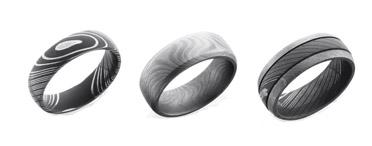 Damascus Steel Wedding Rings At Unique Anium