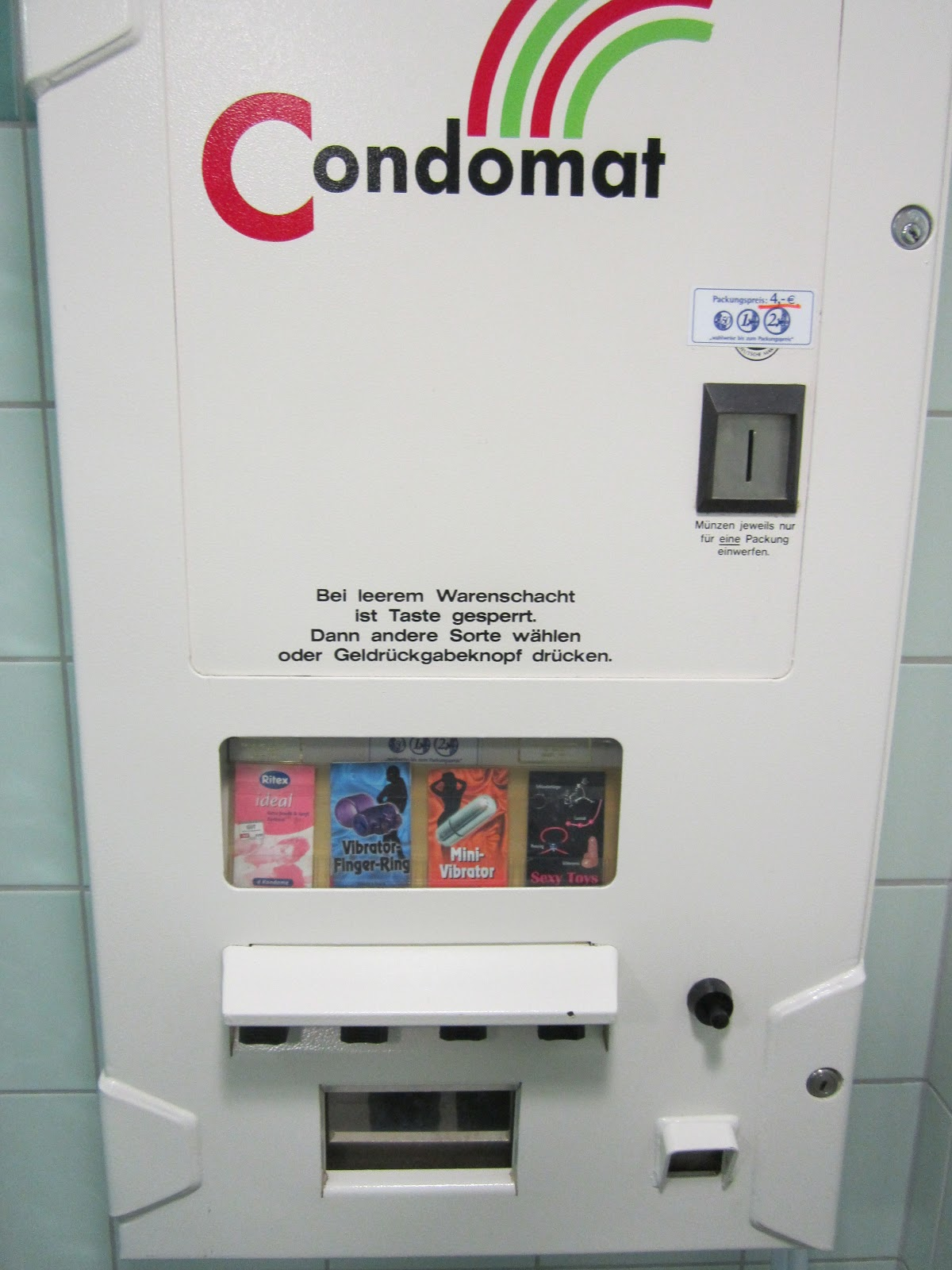 Ordinarily There Vending Machines In German Bathrooms