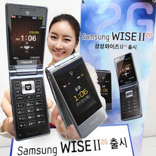 Samsung Wise II 2G, Ponsel 'Clamshell' Dua Layar Nan Simpel