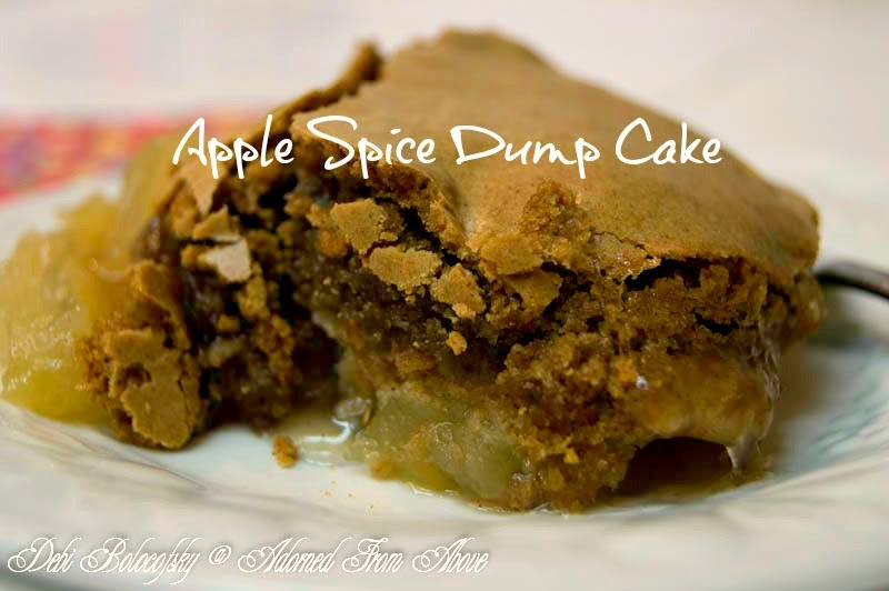 apple spice dump cake from Adorned From Above