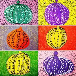 Pumpkin Art inspired by Yayoi Kusama