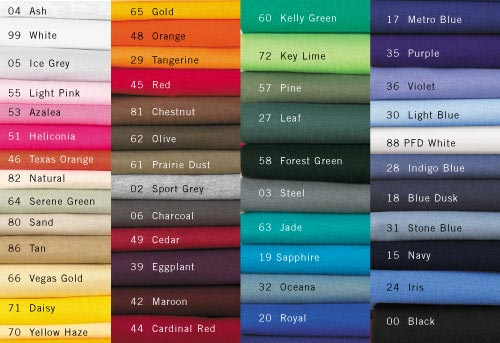 Color Charts For Clothing Picsbud